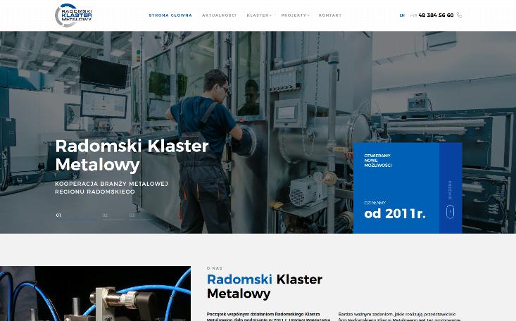Strona internetowa Radomski Klaster Metalowy